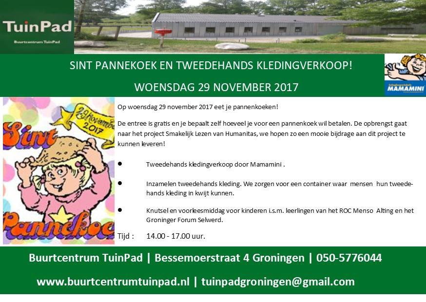 Flyer Buurtcentrum Tuinpad